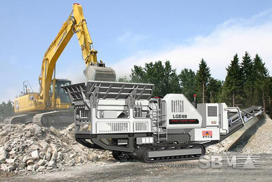 track mounted crushing plant 6
