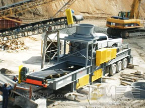 Portable cone crusher plant project