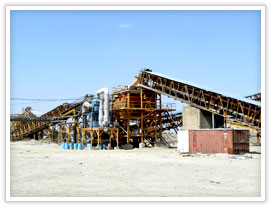gold ore crushing, screening plant